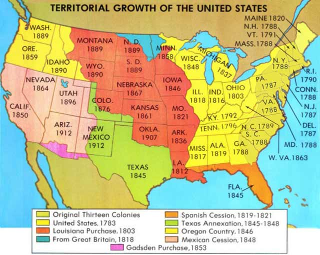 territorial expansion 1800 1900 The idea of divine sanction for the territorial expansion of the united states   territory acquired in the mexican-american war, of territory in oregon gained  in  the dramatic period from 1800 through 1850, the united states went from a tiny.